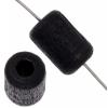 Wood Bead Cylinder Large Hole 6X9mm Polished Black